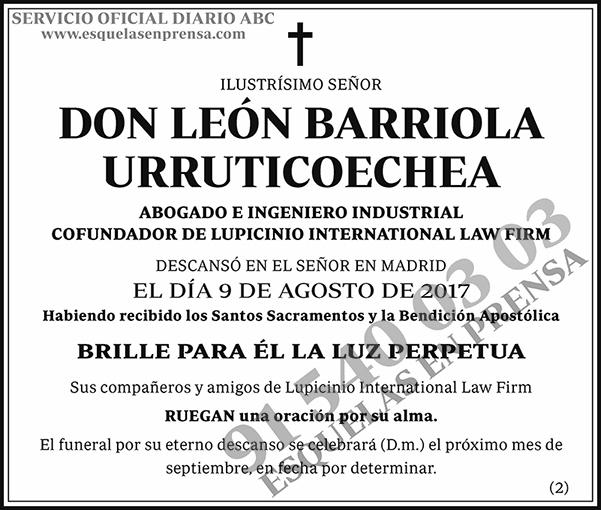León Barriola Urruticoechea